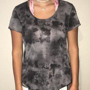 Black and Grey athletic shirt